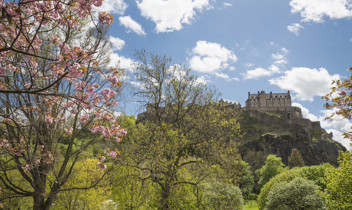 Edinburgh Castle in Spring
